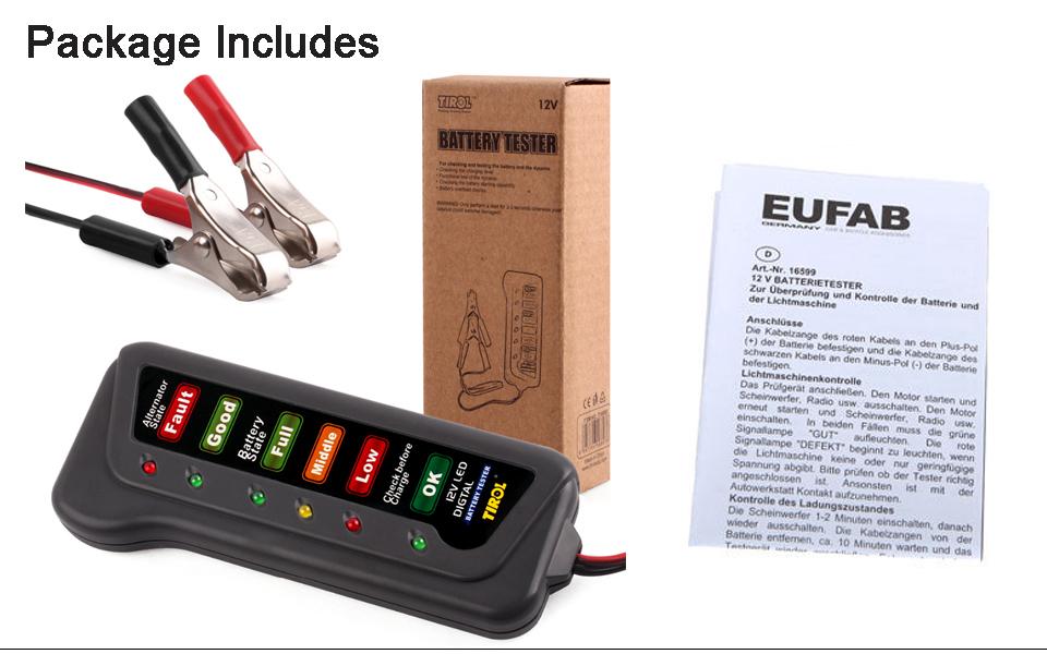 Motorcycle Battery Load Tester : Car motorcycle digital battery alternator load tester