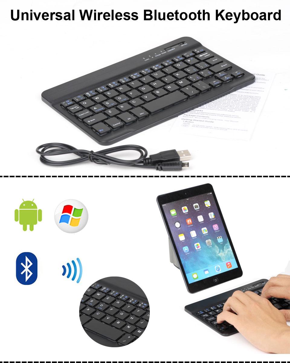 Bluetooth Keyboard Mapping Android: Wireless Bluetooth Keyboard For Android Windows IOS Tab Samsung Tab 4 IPad Mini2