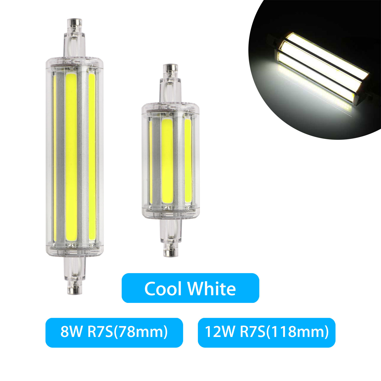 dimmable led 8 12w r7s flood light corn bulb replace. Black Bedroom Furniture Sets. Home Design Ideas