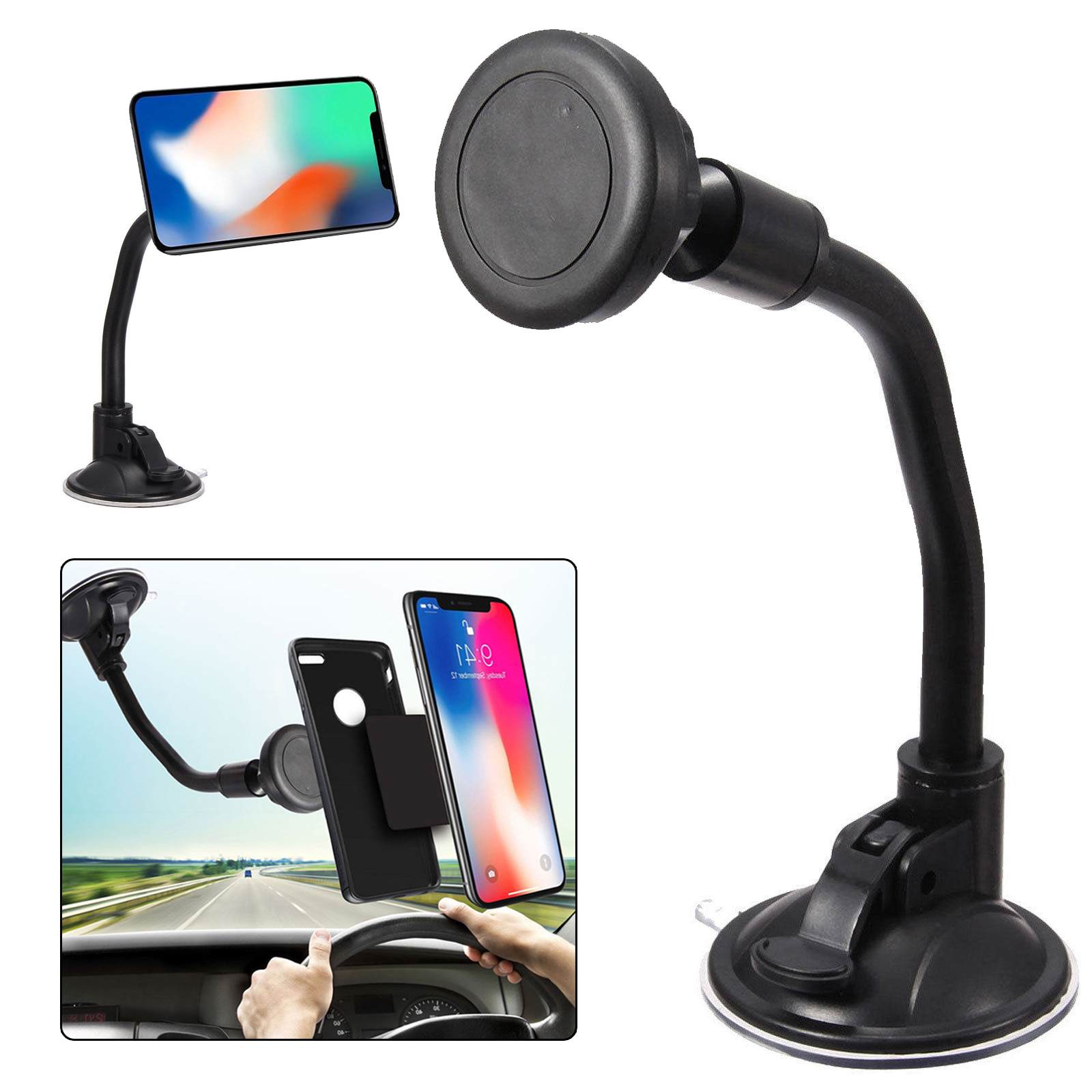 dashboard windshield car mount magnetic quick snap
