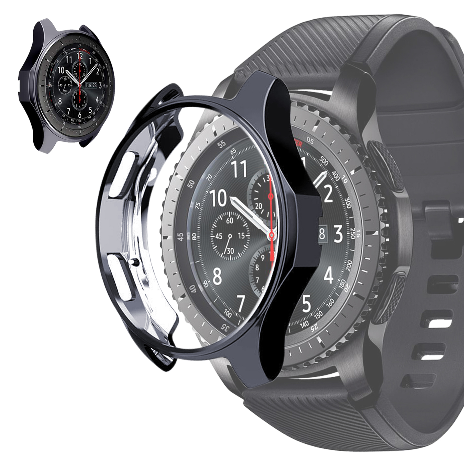 Soft-TPU-Slim-Smart-Watch-Case-Cover-For-Samsung-Gear-S3-Frontier-Galaxy-46mm thumbnail 11