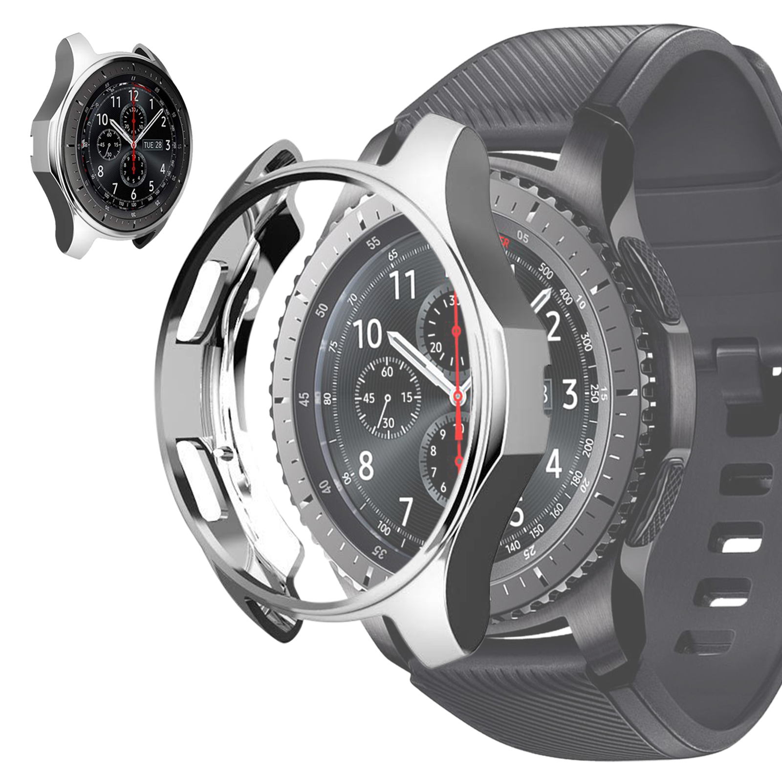 Soft-TPU-Slim-Smart-Watch-Case-Cover-For-Samsung-Gear-S3-Frontier-Galaxy-46mm thumbnail 13