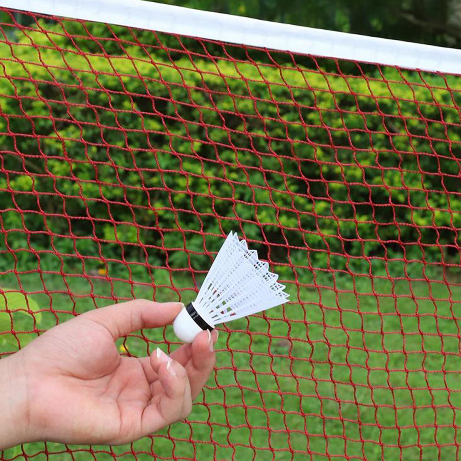 Red-Badminton-Tennis-Volleyball-Net-For-Beach-Garden-Indoor-Outdoor-Games-Sport thumbnail 10