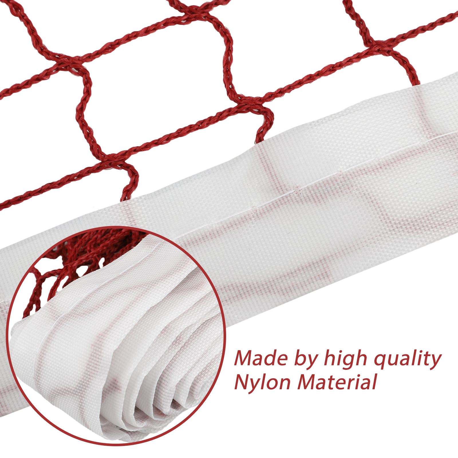 Red-Badminton-Tennis-Volleyball-Net-For-Beach-Garden-Indoor-Outdoor-Games-Sport thumbnail 4